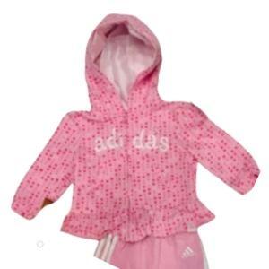 Adidas Infant Girls Hooded Jacket 18M